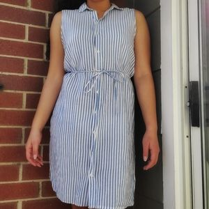 H&M Sleeveless Button Up Collared Dress   Size 10